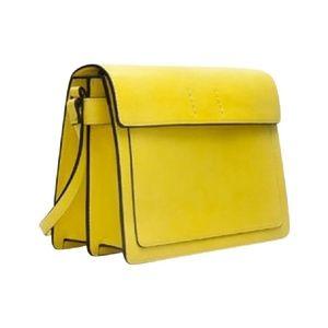 ZARA yellow crossbody messenger bag